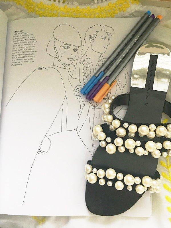 Das Malbuch 2 von Vogue auf dem Fashion und Lifestyle Blog Label Love vorgestellt