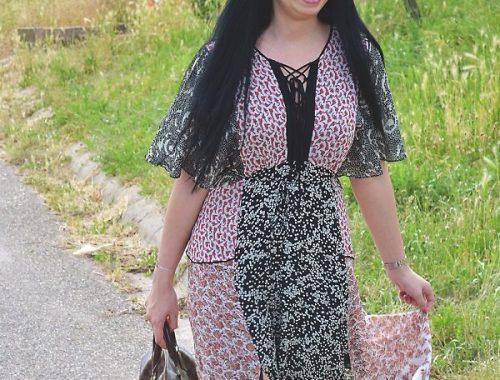 Das coole Boho Kleid passt zu jedem Ethno Stil im Sommer 2017