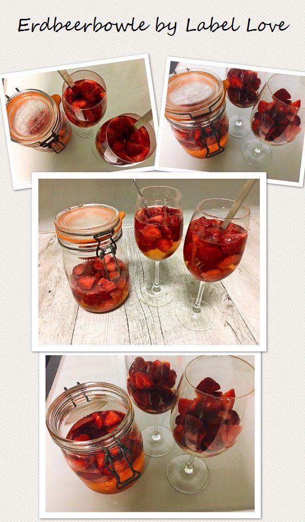 Leckere Erdbeerbowle vom Blog Label Love