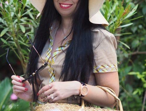 Heute zeige ich euch auf meinem Blog einen Safari-Look mit Steffen Schraut Kleid, Miu Miu Espadrilles, Strohhut und XXL Shopper und gehe näher auf den Modeschöpfer ein