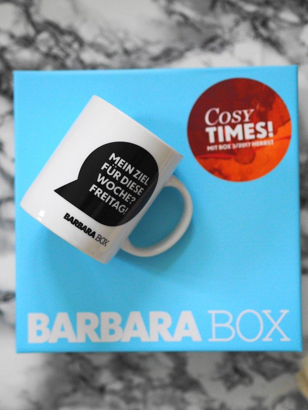 Heute stelle ich euch in meinem Blog den vielseitigen und hochwertigen Inhalt von der aktuellen Barbara Box Cosy Times näher vor