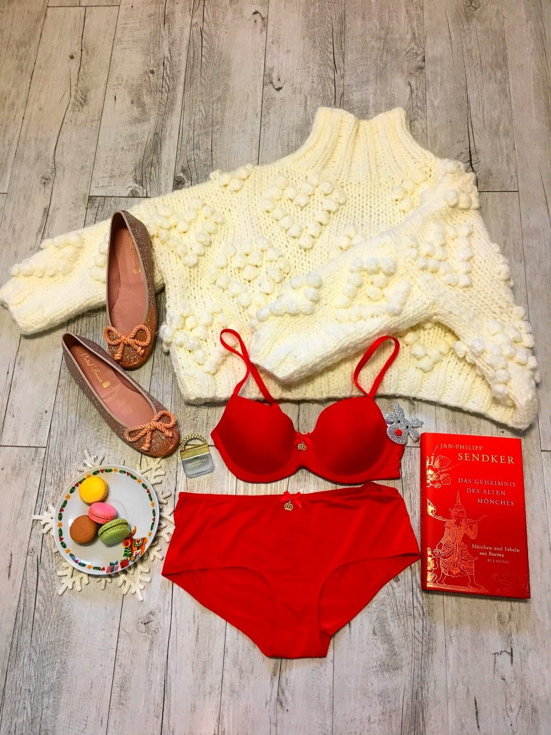 Rotes Set aus Pompöös Dessous By Susa Kollektion