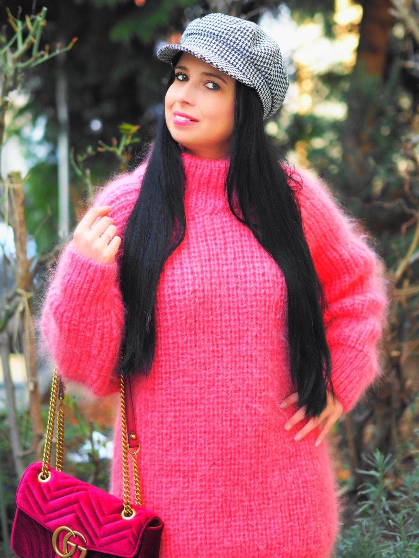 Pinker Mohair Pullover von SuperTanya