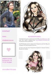 Das Media Kit des Fashion, Beauty und Lifestyle Blogs Label-Love mit nützlichen Informationen über Kennzahlen, Besucher des stylischen Blogs und Reichweite