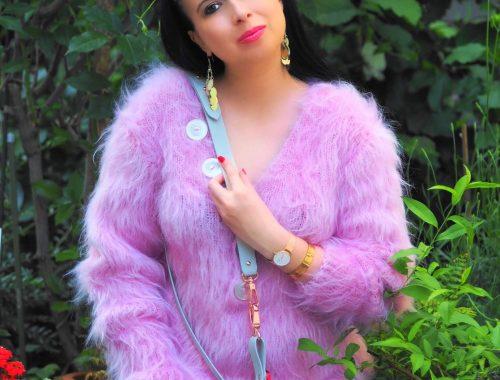 Heute zeige ich auf dem Blog meinen kuscheligen pinken Pullover von SuperTanya und gebe nützliche Pflegetipps wie man Mohair am Besten wäscht und schützt
