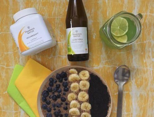 Ein veganes Frühstück mit Pharmos Natur