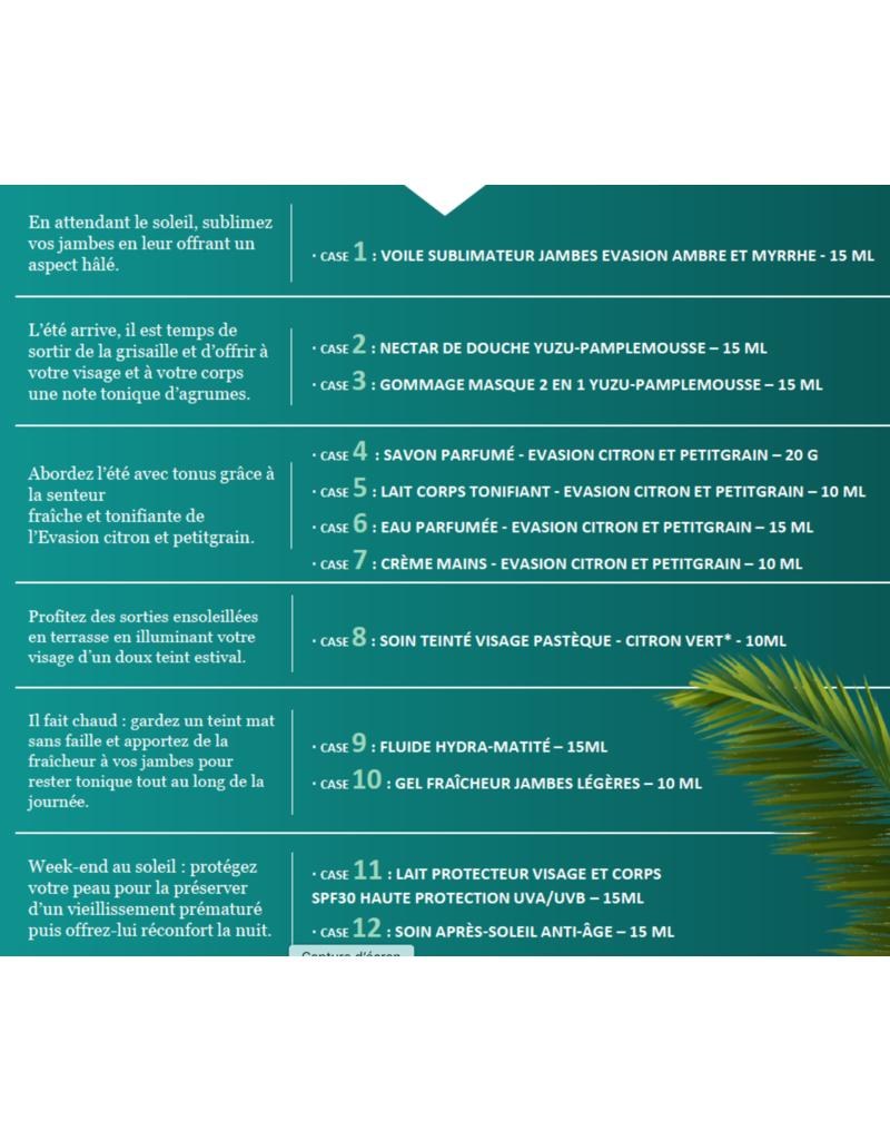 Der limitierte Summer Calendar von Sothys bietet 12 exklusive Pflegeprodukte für Gesicht und Körper. Außerdem ist auch Sonnenschutz in Reisegröße enthalten.