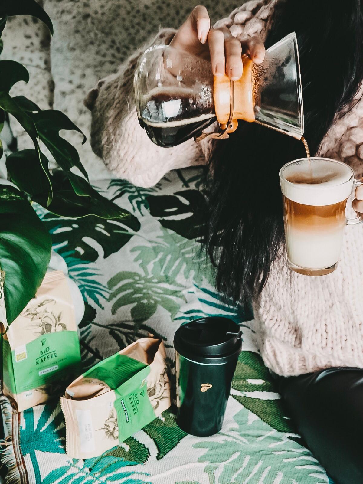 Der Bio Kaffee von Tchibo besteht aus Arabica Bohnen.