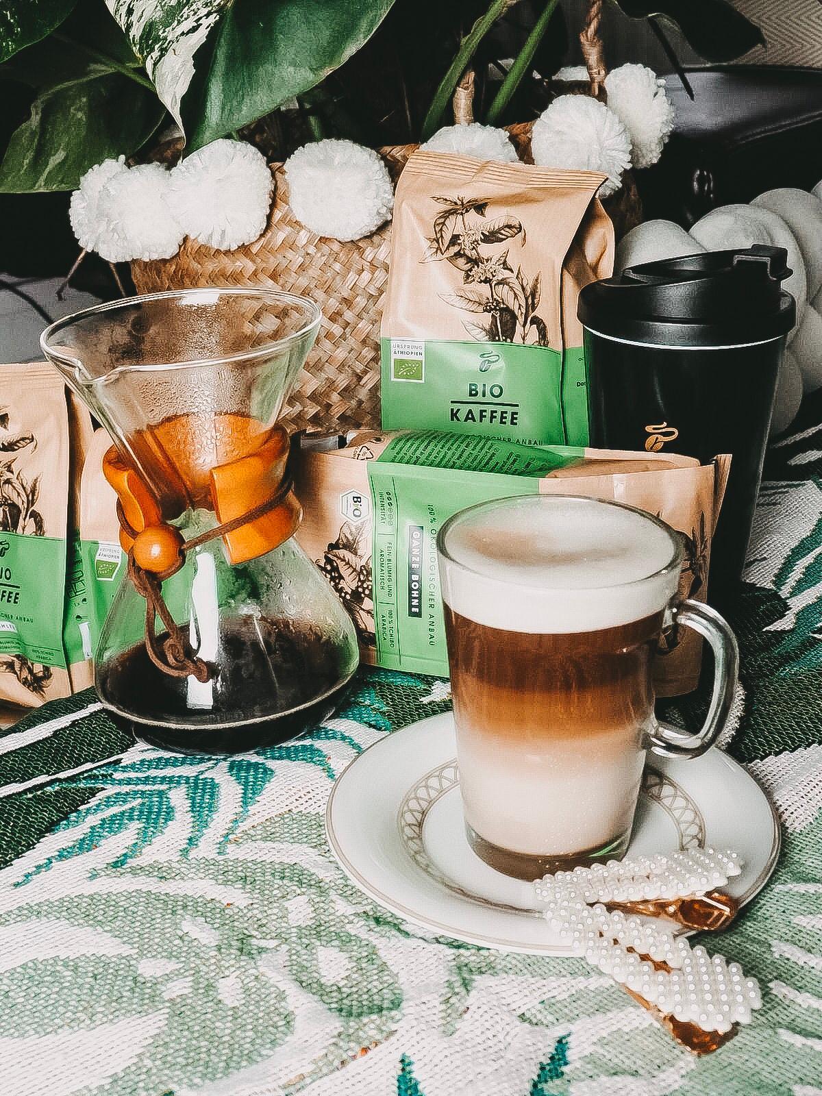 Der Bio Kaffee von Tchibo hat das Bio Siegel und ist Rainforest Alliance Certified