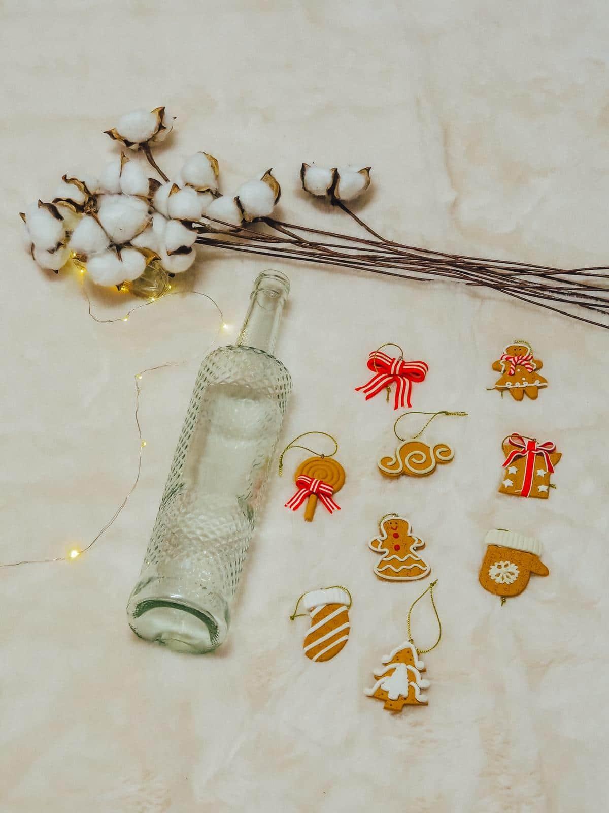 Die DIY Schneezauber Leuchtflasche sieht toll aus.