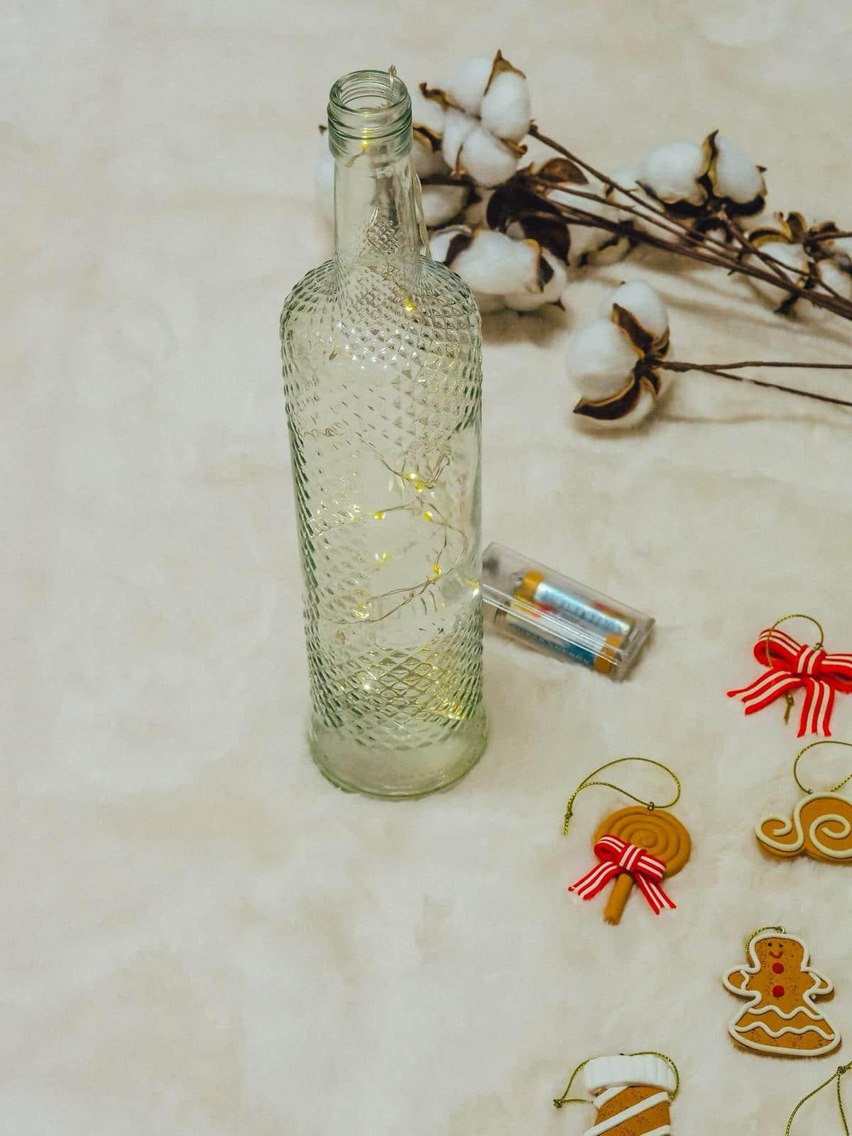 DIY Schneezauber Leuchtflasche für daheim.