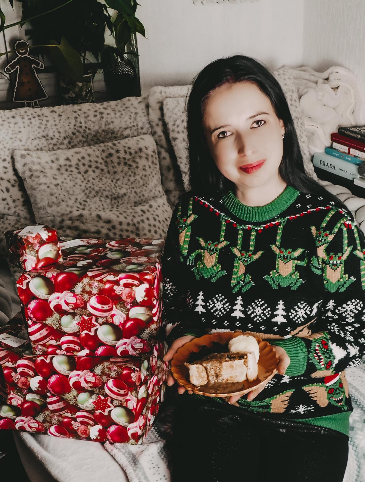 Veganer Festtagsbraten mit Pilzsauce. fürs Weihnachtsessen.