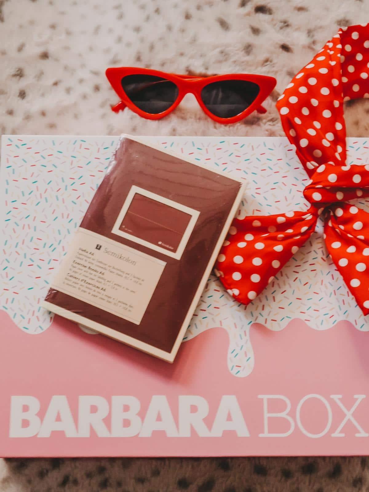 Semikolon Heft in der Barbara Box Sahneschnitte