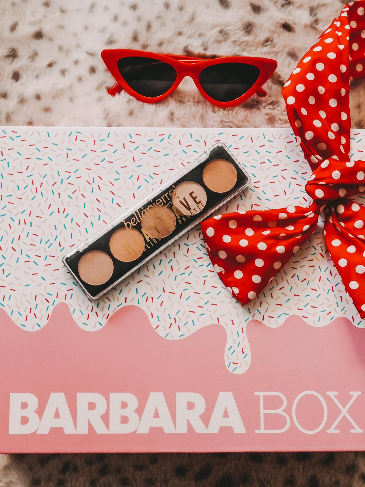 Bellapierre Highlighter Palette in der Barbara Box Sahneschnitte