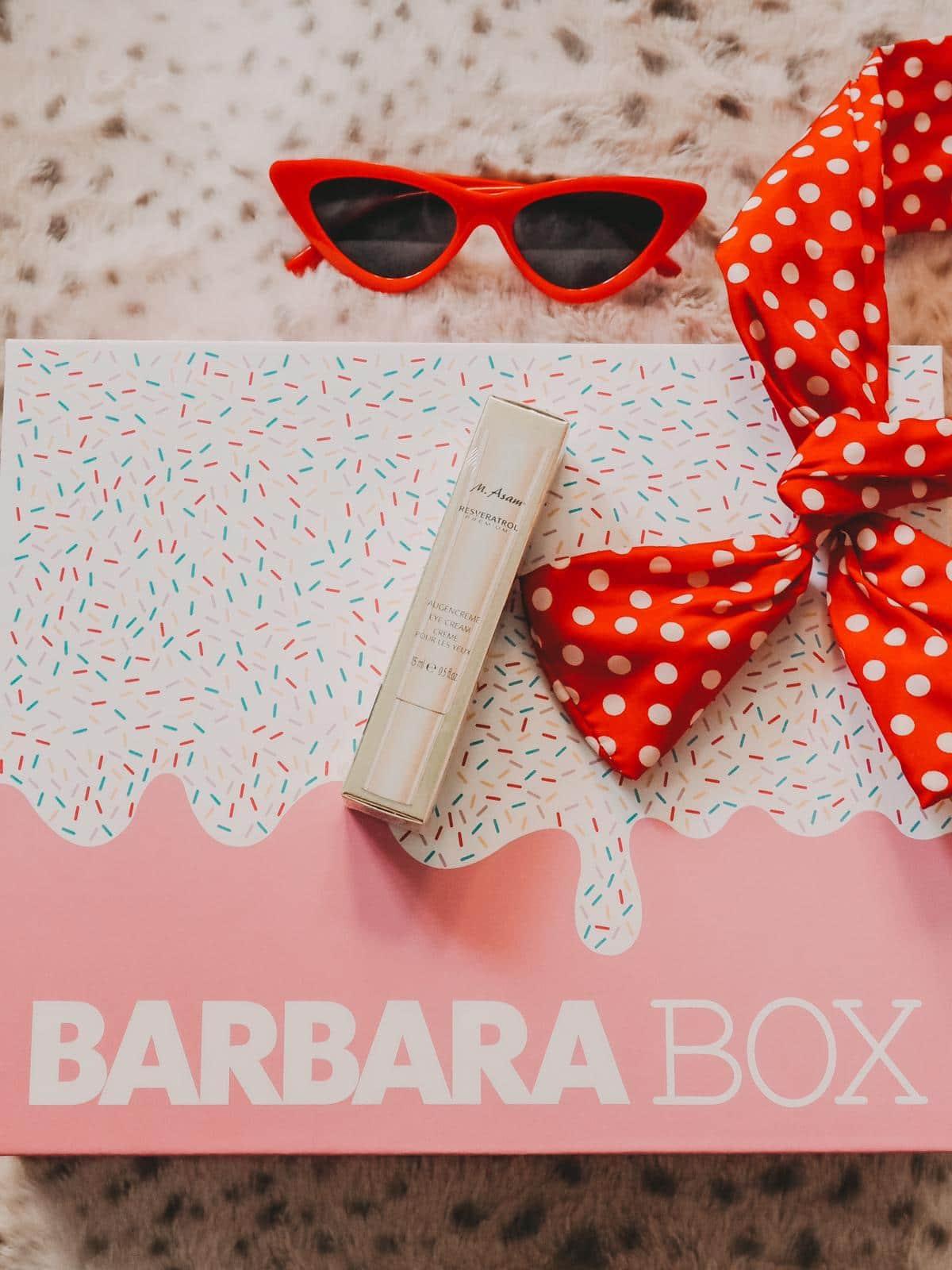 Resveratol Augencreme in der Barbara Box Sahneschnitte
