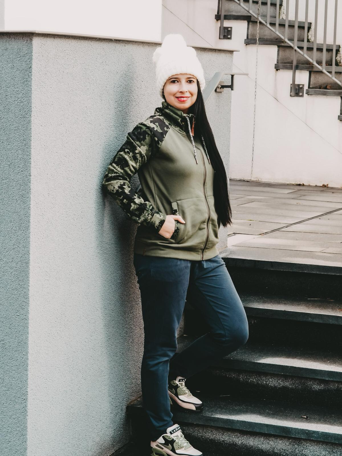 Camouflage Sweatjacke von Protest Sportswear