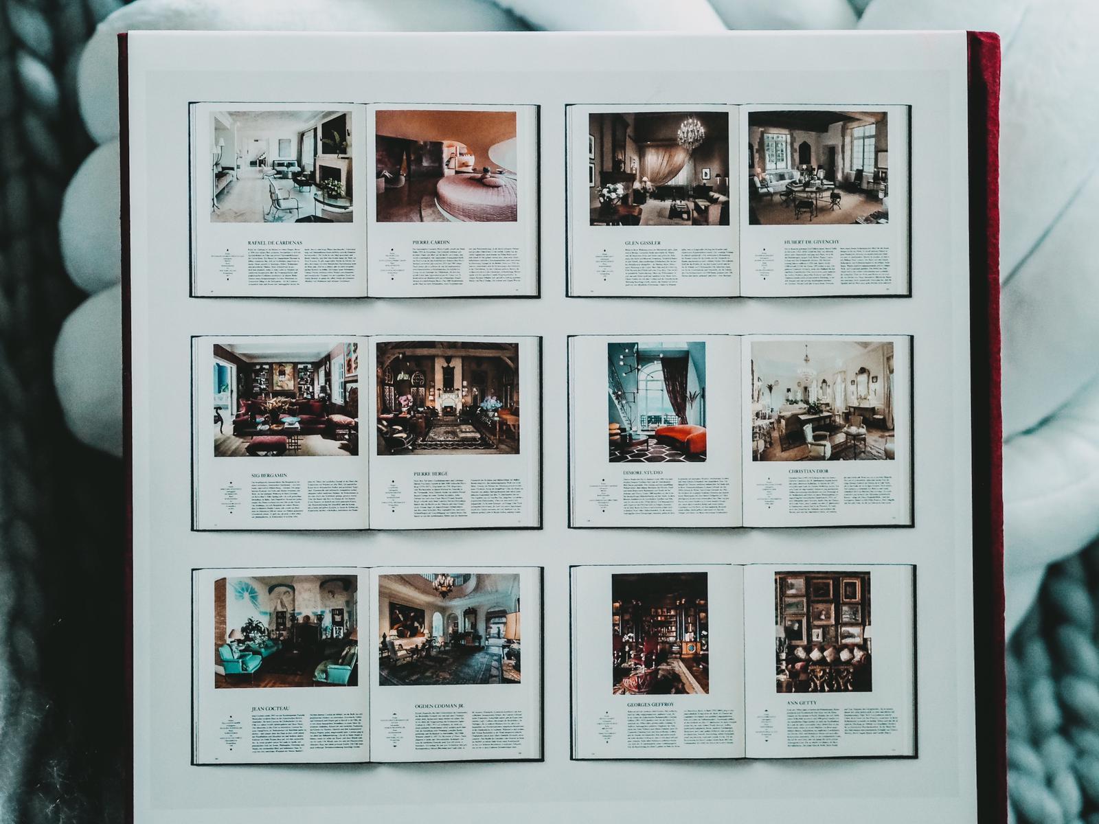 Interior - Buch mit den stilvollsten Wohnräume aus 100 Jahren