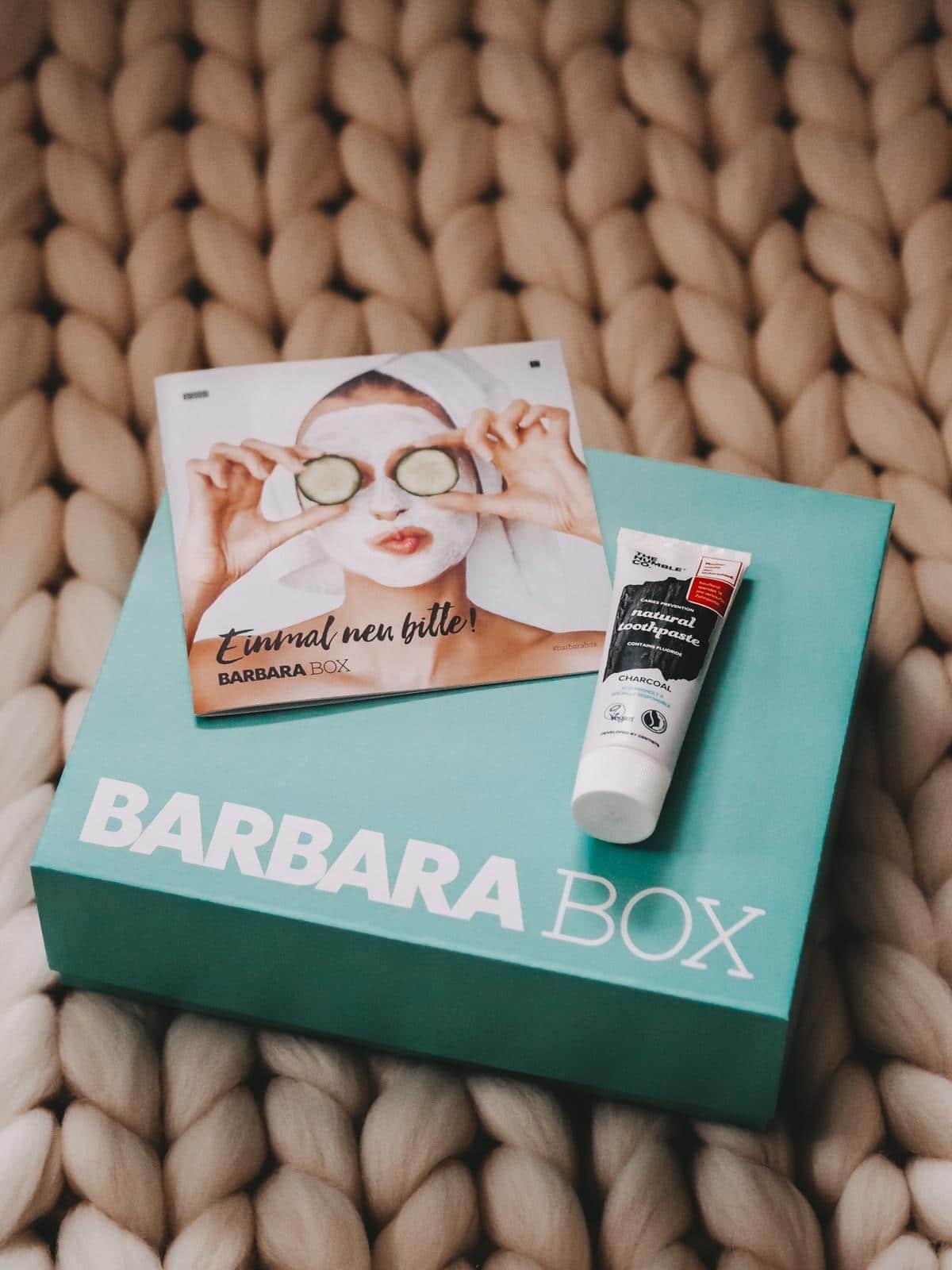 Natural Toothpaste aus der Barbara Box Einmal neu bitte