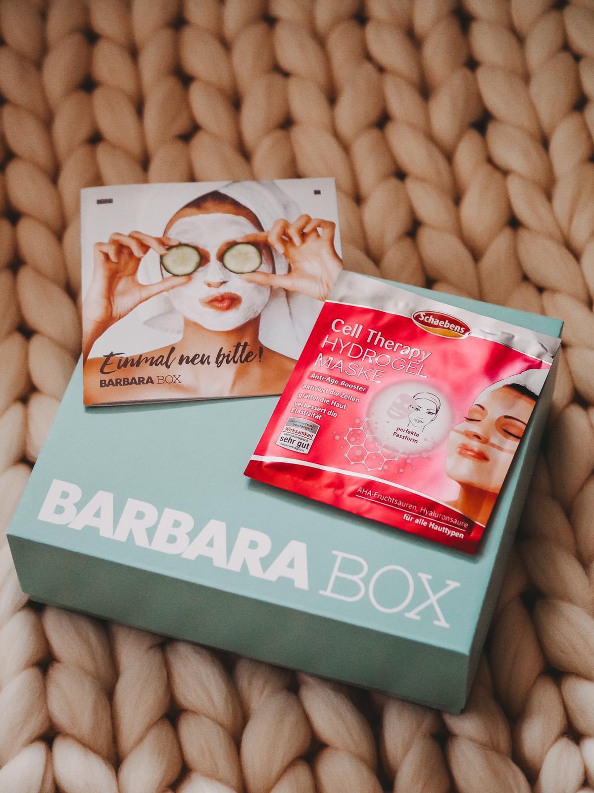 Schaebens Cell Therapy Hydrogel Maske aus der Barbara Box Einmal neu bitte