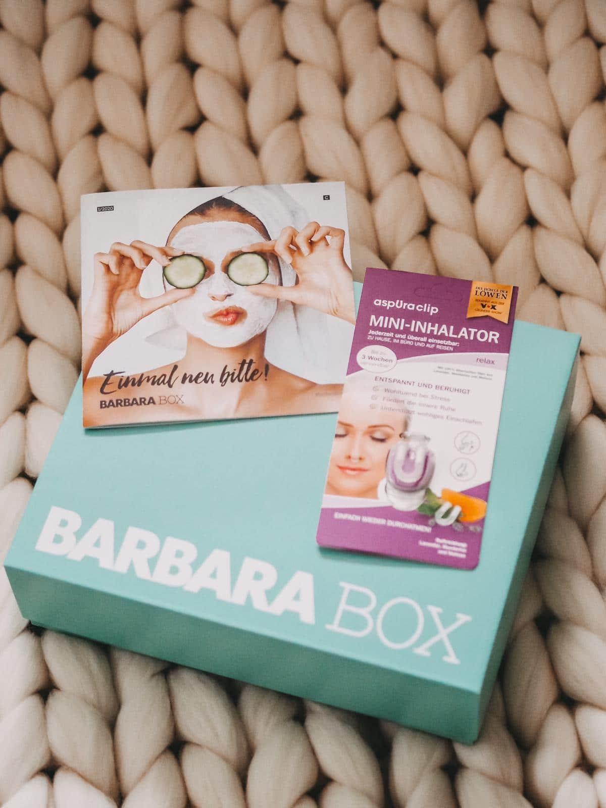 aspuraclip Mini-Inhalator aus der Barbara Box Einmal neu bitte