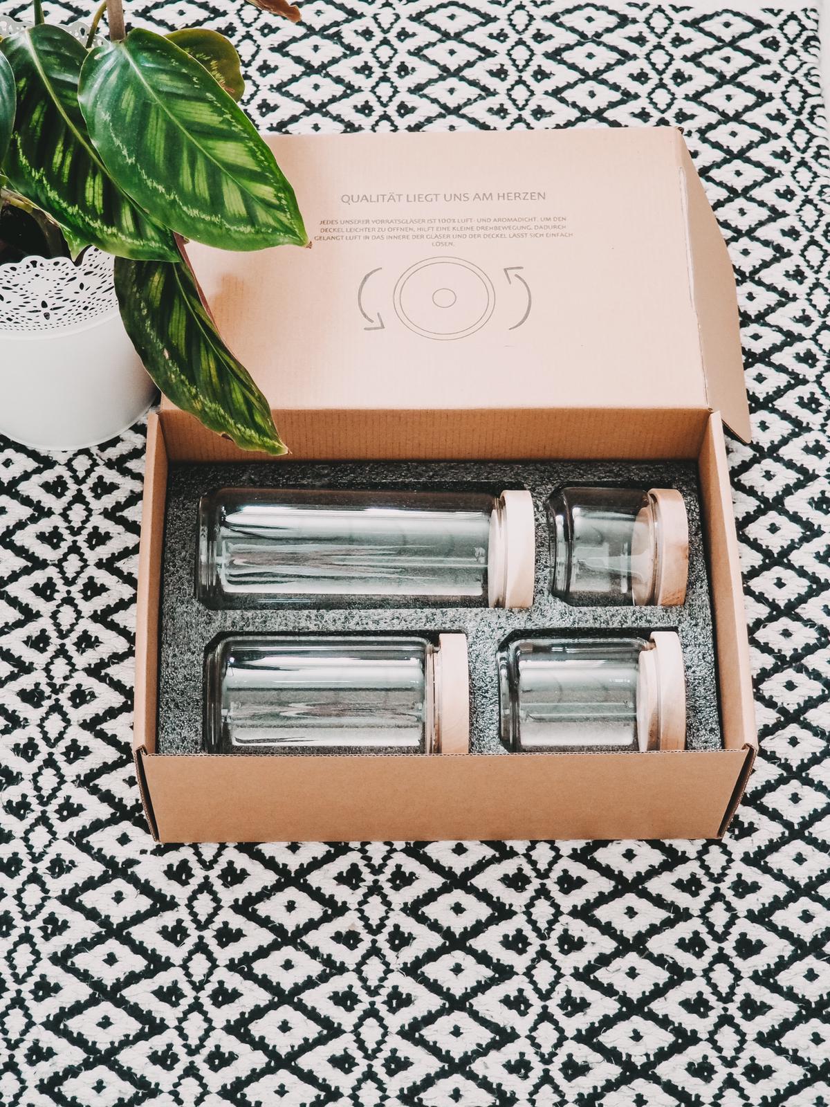 Vorratsgläser aus mundgeblasenemBorosilikatglas von Econovo