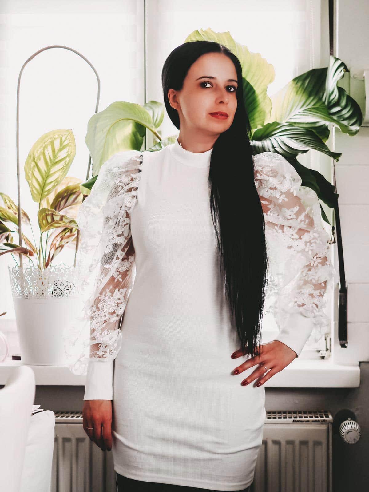 Cosy at Home Looks - weißes Minikleid Kellen