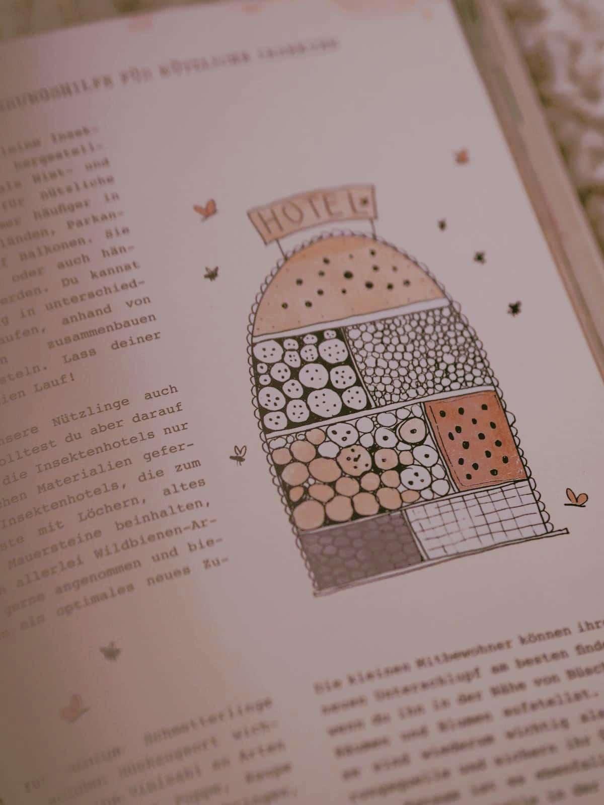 Insektenhotel Projekt aus Mein Pflanzenjournal von Julia Ruda