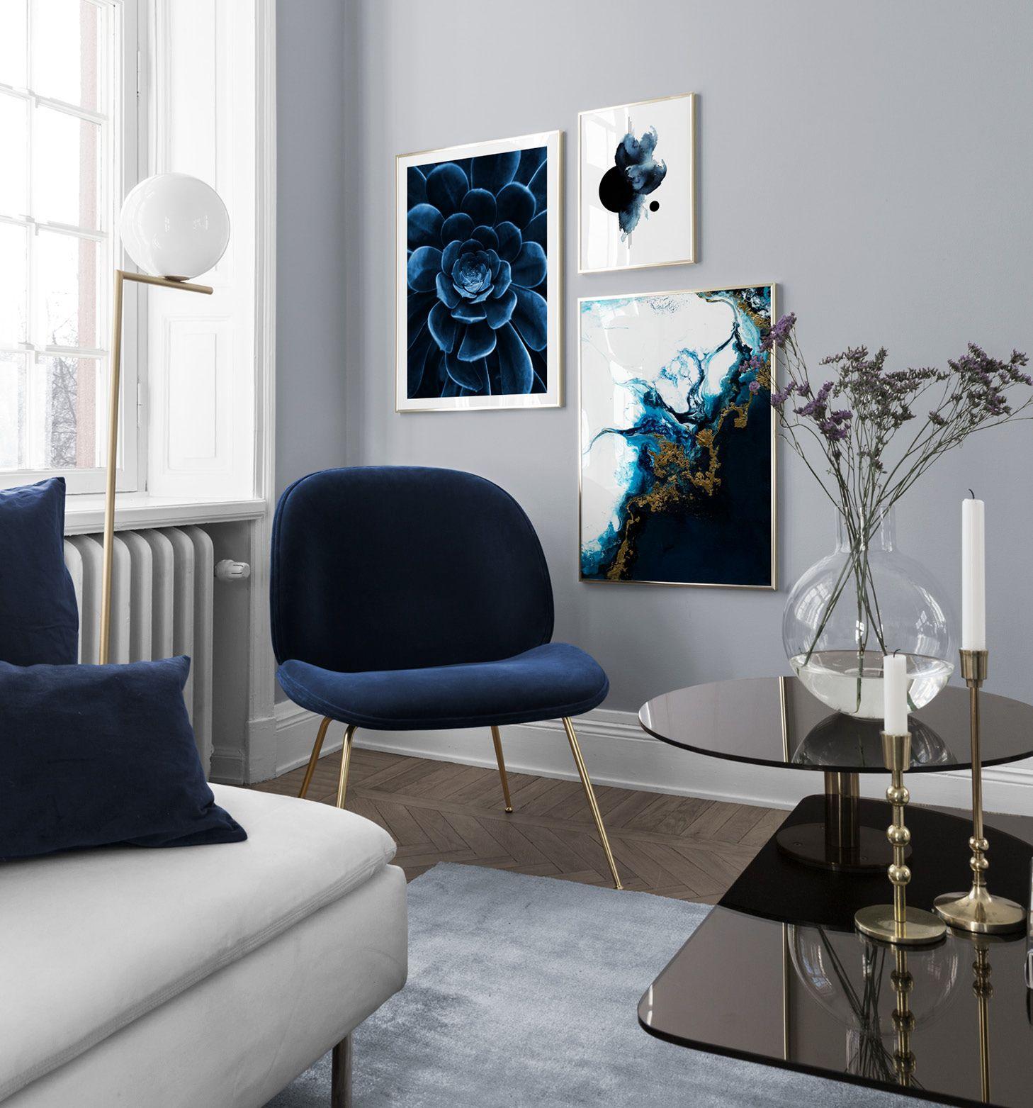 True Blue Wandbilder von Desenio