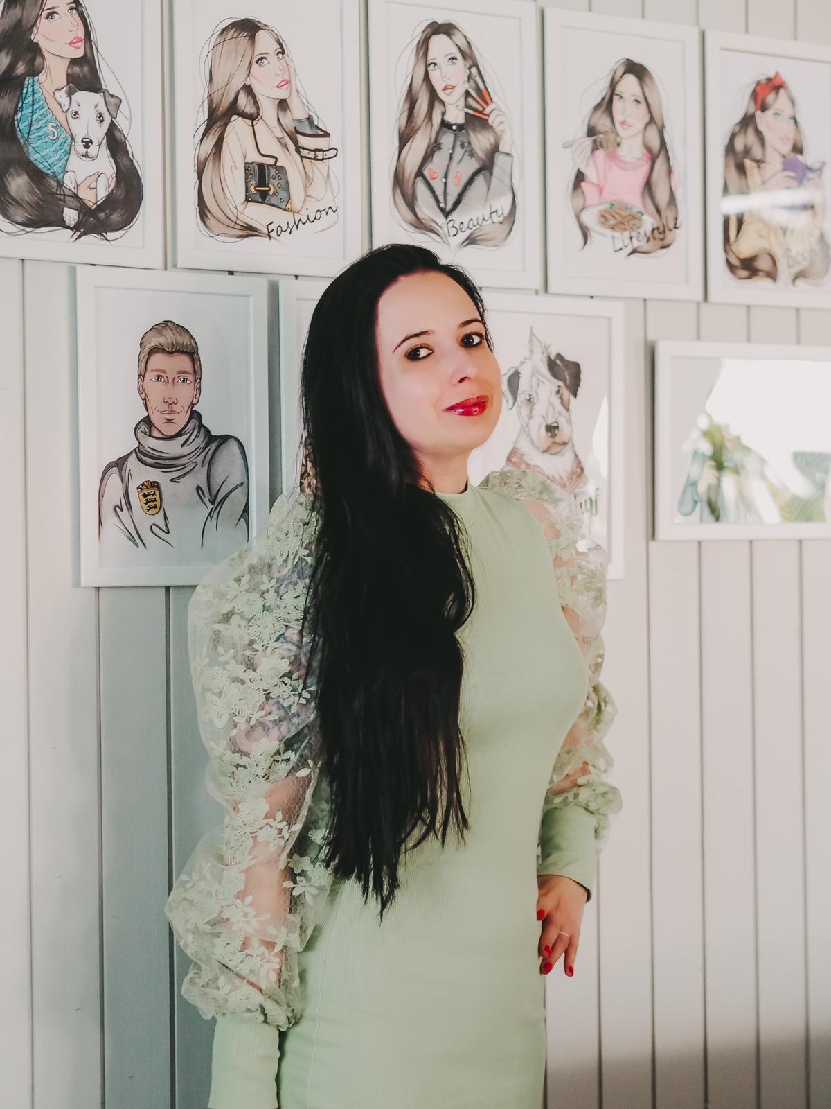 Tolles lindgrünes Kleid von Femmeluxefinery