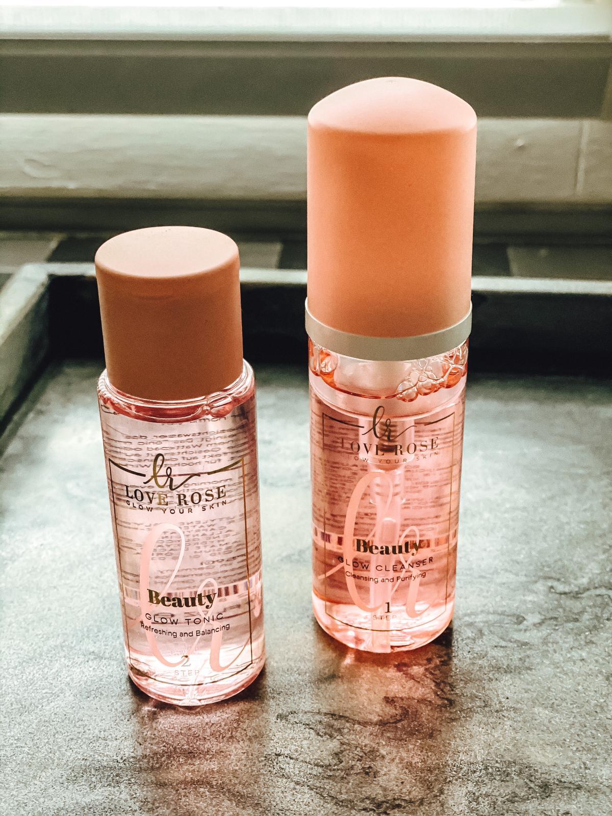 Beautyroutine mit Cleanser und Glow Tonic von Love Rose Cosmetics
