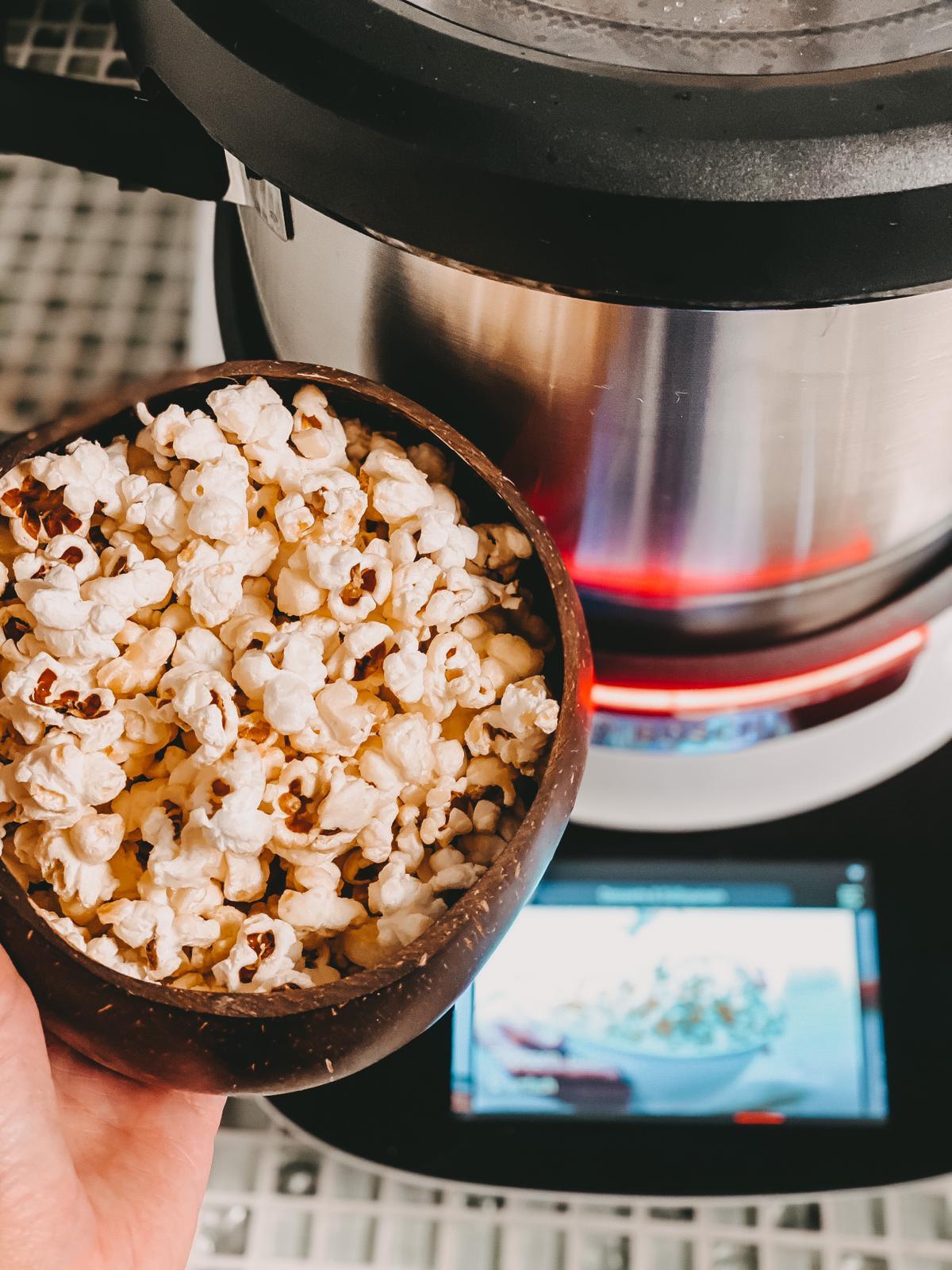 Leckeres Popcorn aus dem Bosch Cookit