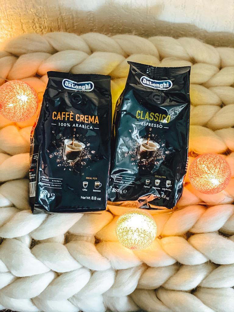 500 Gramm Kaffe war auch im DeLonghi Paket dabei