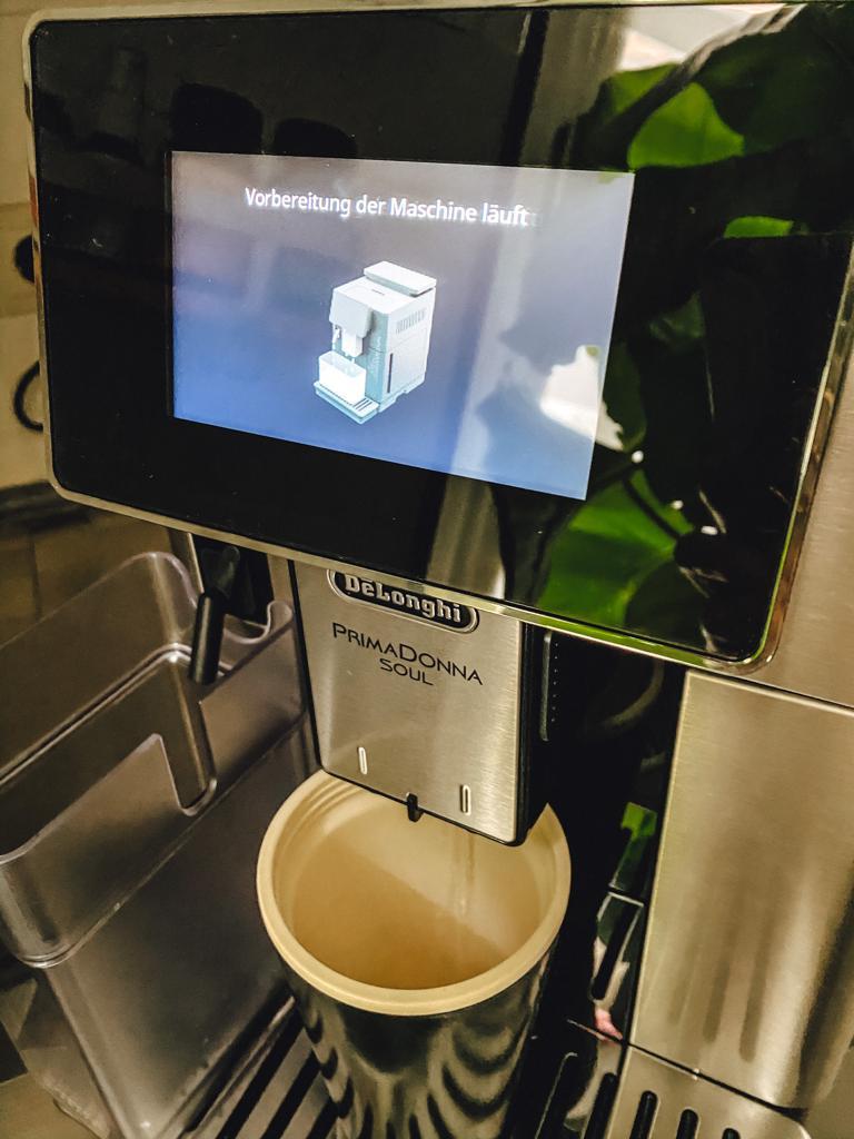 Vorbereitung des Kaffeevollautomats